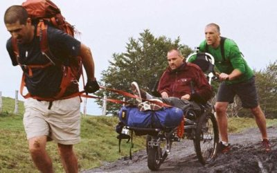 'I'll push you': Man pushes best friend in wheelchair 500 miles across Spain