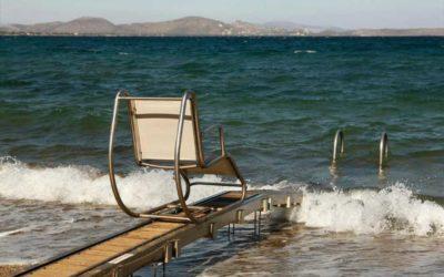 Grécia apresenta seu turismo acessível. Praias acessíveis e permanentes.